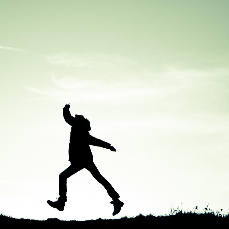 Springend van vreugde