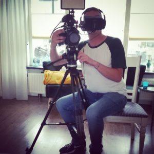 Opnames voor 'De Rugzak' bij Reinier thuis.