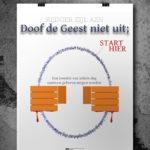 Promotionele poster 'Doof de Geest niet uit;' (01)